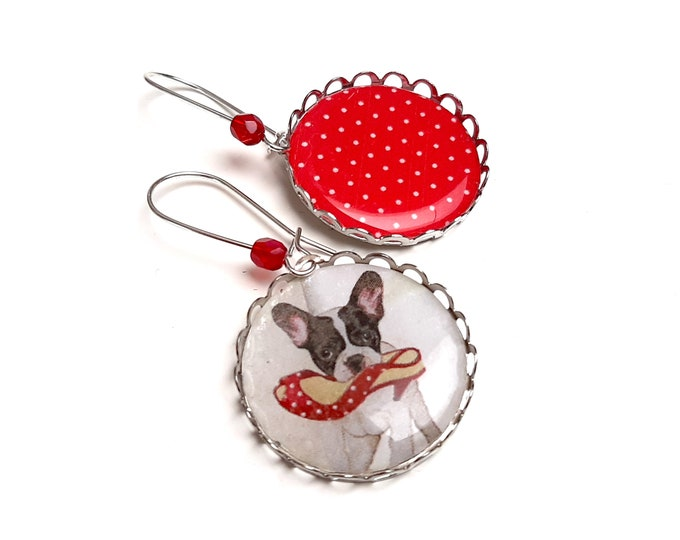 Cabochon loops dissociated dog polka dot pump