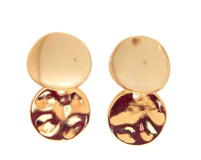 Earrings brass lozenges
