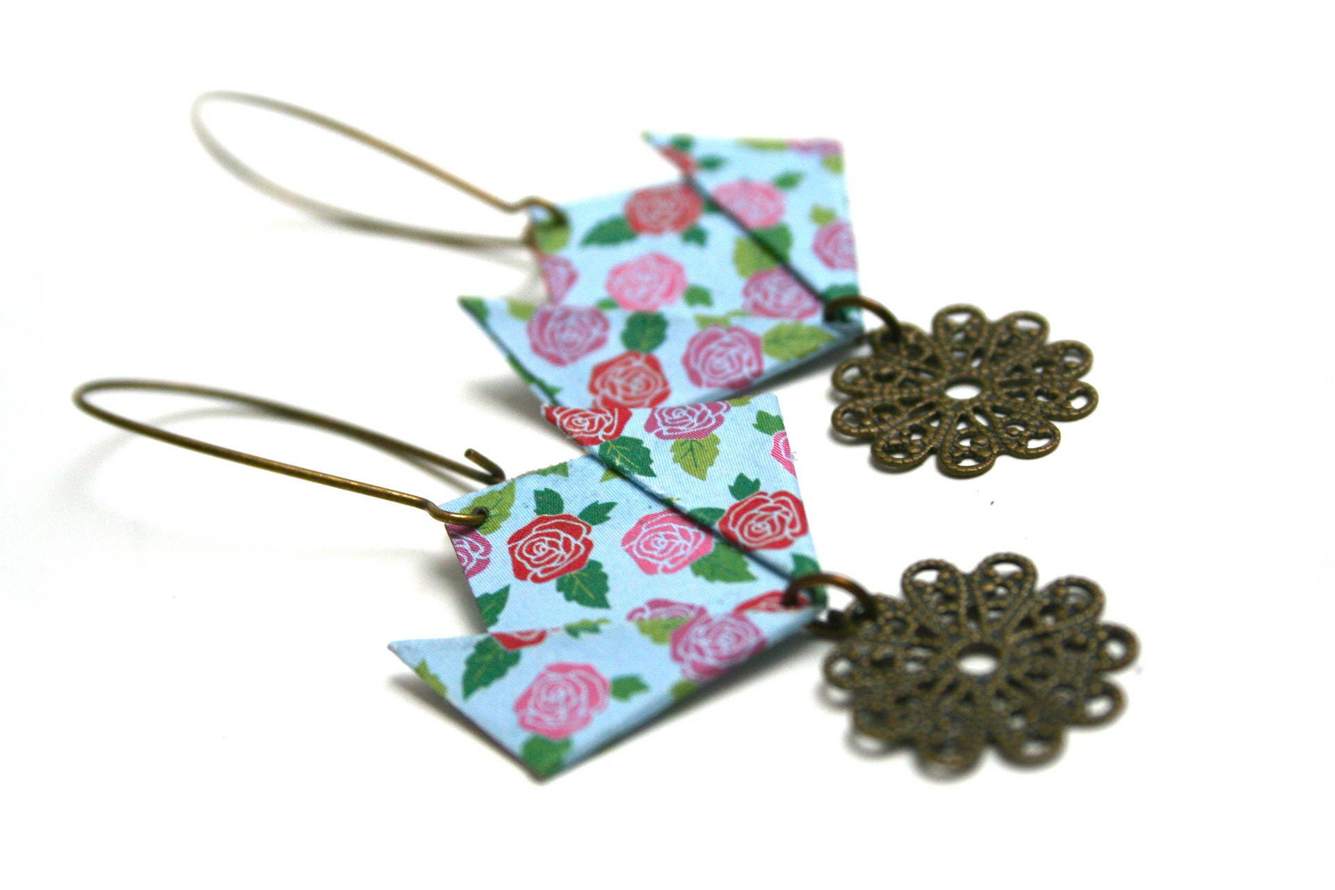 Jul Thread Print Folding Filigree Lotus Flower Origami Pink