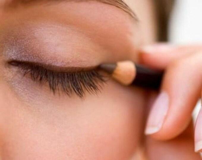 Long brown kohl pencil eyes eyebrows waist built-in pencil
