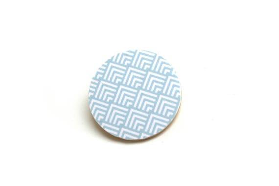 Scandinavian minimalist pastel chevrons, natural wood wooden pin