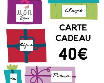 Gift card worth 40 euros