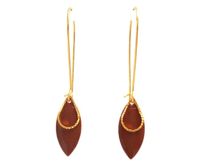 Chocolate enamel sequin rings