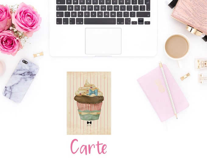 Original postcard cup cake with knot JUL and FIL
