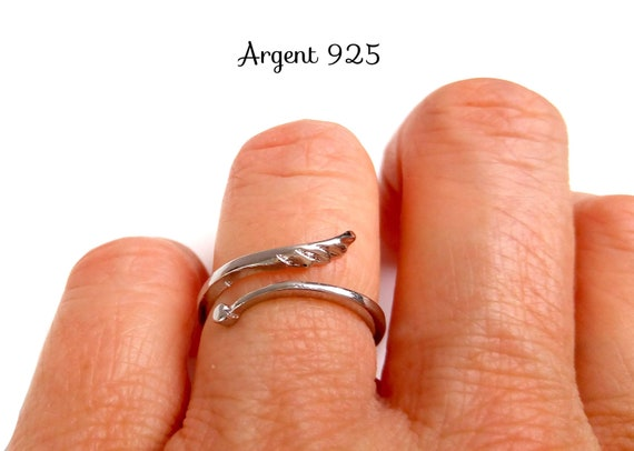 Ring Silver 925 angel wing heart