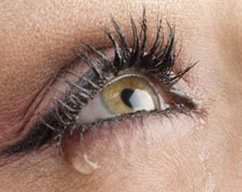 Waterproof mascara brown makeup woman