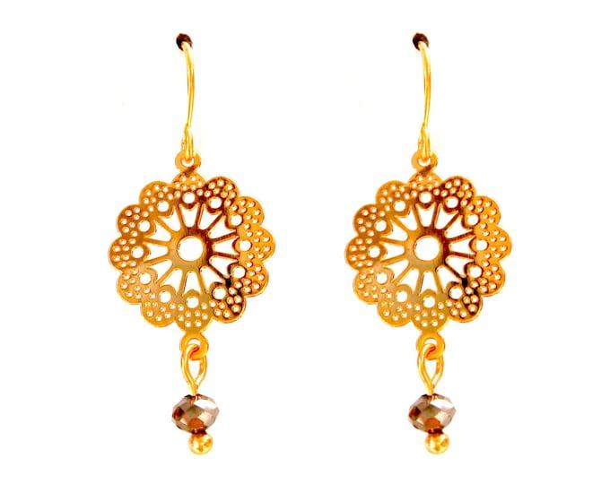 Flower watermarks pendant loops