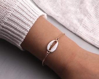 Women's cauri shell bracelet stacking