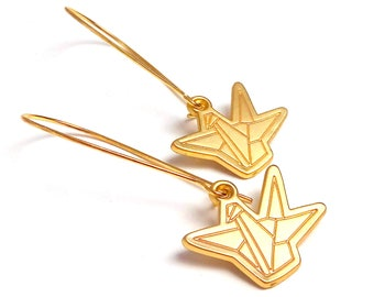 Sleepers origami brass cranes