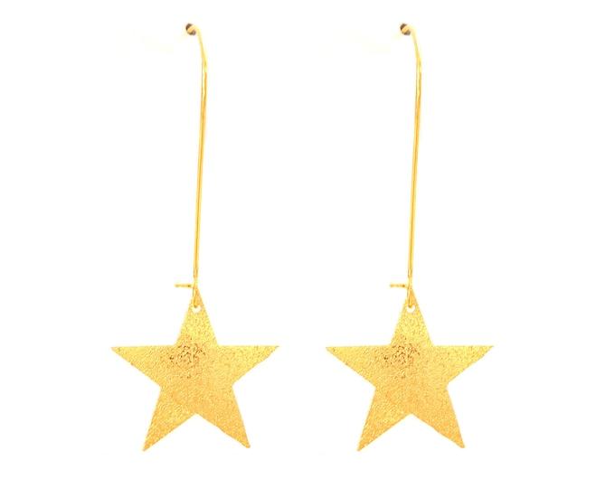 Star brass earrings
