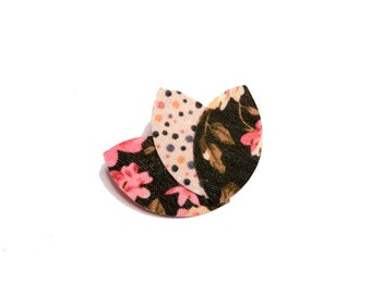 Brooch fabric petals flowers lotus peas, gift woman, birthday, wedding, bridle