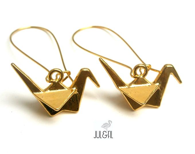 Sleeper Japanese golden brass cranes