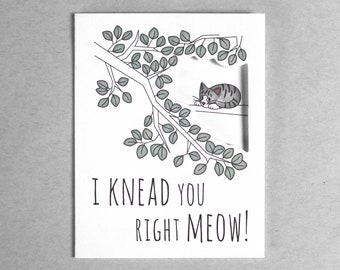 Love you card | cat card love card gray tabby cat