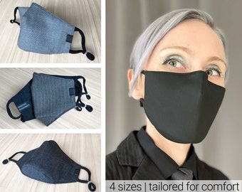 Wool face mask with nose wire | 3d mask for work luxury face mask for a suit fitted face mask for men mask for woman snailface