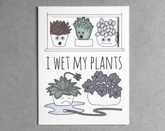 Succulent card | plant lover cactus card card for friend