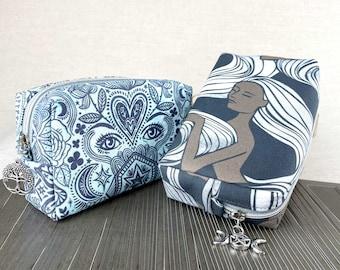 Goddess Tarot deck bag with zipper | faerie tarot card pouch for standard size tarot bag protective pouch for tarot cards