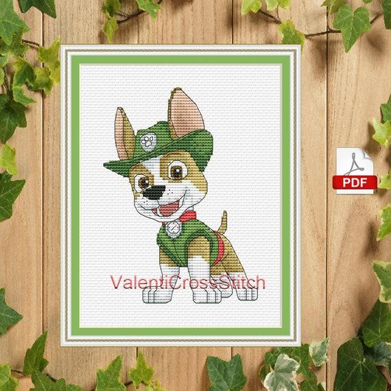 Baby Cross Stitch Pattern Tracker Cartoon PDF New Puppy | Etsy