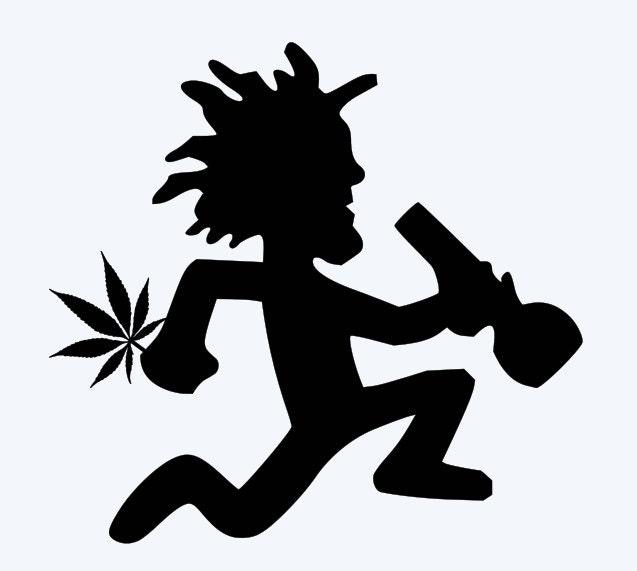 hatchetman bong with weed pot marijuana juggalo ninja vinyl etsy
