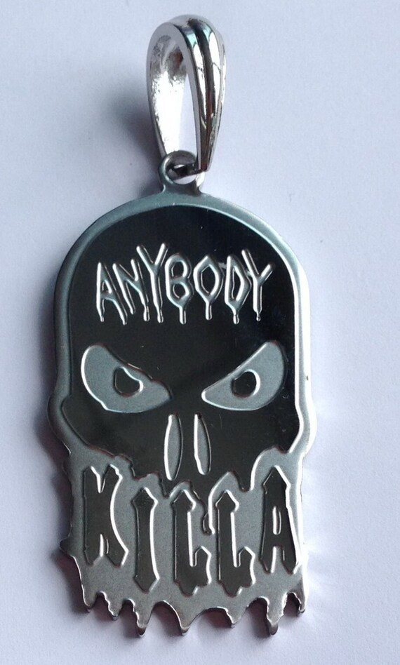 """4//5MM 30/"""" In Chain Necklace 316L Stainless Steel 2.5/"""" Hatchet Girl ICP Pendant"""