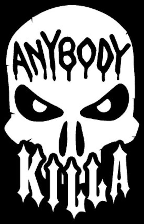 anybody killa juggalo ninja vinyl sticker huge 5 year vinyl etsy