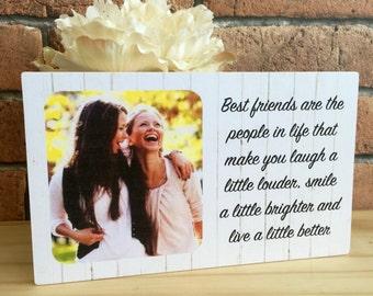Personalised Friend Gift Best Birthday Frame Friendship Photo