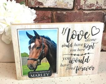 Horse Memorial, Memorial Gift, Horse Remembrance, Horses, Gift for Horse Lover, Horse Gift, Horse Lovers Gift, Pet Memorial, Horse Sympathy