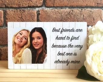 Personalised Friend Gift Best Birthday Frame Friendship Wooden Photo