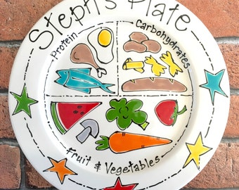 Portion Control Plate, Weight Watchers Plate, Dieting Gift, Healthy Eating Plate, Weight Loss Plate, Healthy Eating, Personalised Diet Food