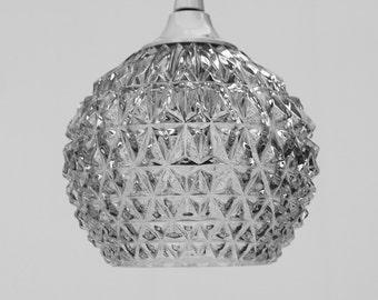 Petite Suspension pomme de pin verre taillé haute qualité  / Lustre entrée salle de bain /3 disponibles / Holy10