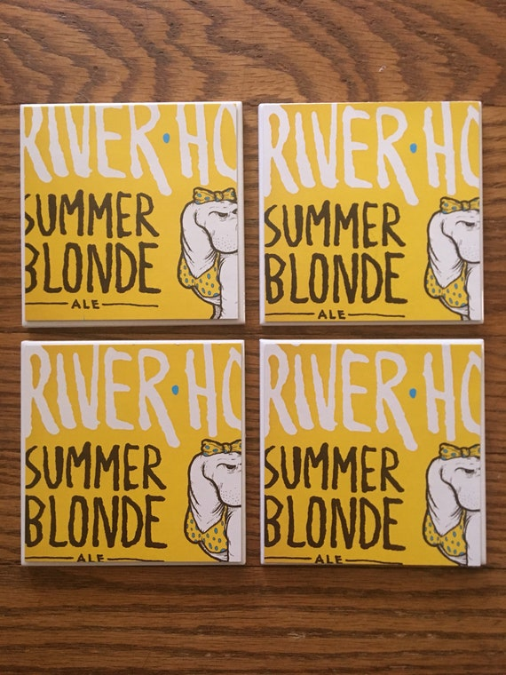 Riverhorse Summer Blonde Coasters Set Of 4