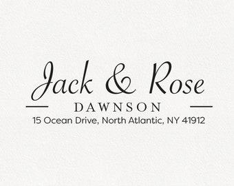 Dawnson - Personalized Address Stamp Design