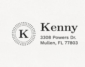 Kenny - Personalized Address Stamp Design