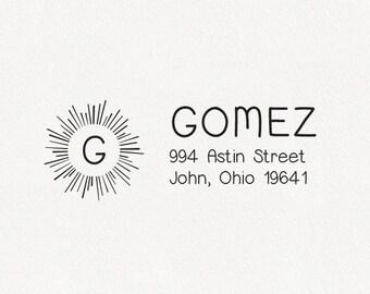 Gomez - Personalized Address Stamp Design