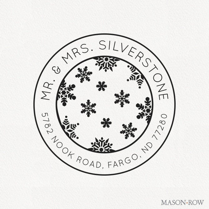 Silverstone Personalized Holiday Stamp Design
