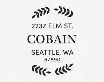Cobain - Personalized Address Stamp Design