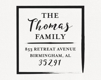 Thomas - Personalized Address Stamp Design