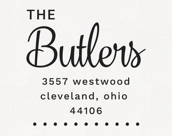 Butler - Personalized Address Stamp Design