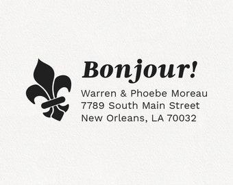 Bonjour - Personalized Address Stamp Design