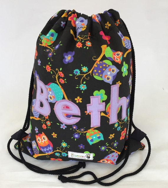 Dog Print Drawstring Bag Personalised Sack Gym PE Swim School Waterproof
