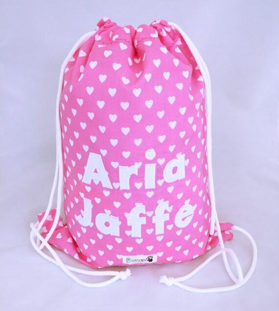 Personalised Transport Cars Kids PE Swimming School Children/'s Drawstring Bag