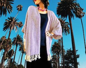 Purple Chevron Kimono Cardigan/Cover Up Kimono/Boho Kimono/Lightweight Jacket/Poncho/Women Kimono/Cocoon Cardigan/Plus Size Kimono/Oversized