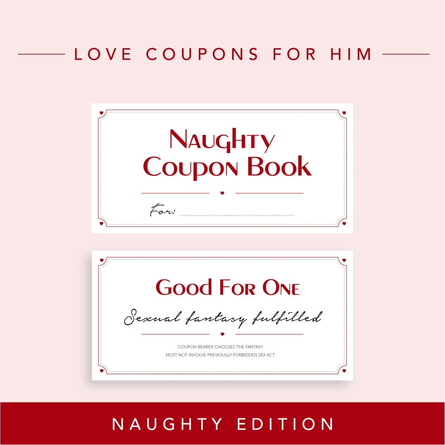 Naughty Edition // Love Coupons for Boyfriend Valentine\'s