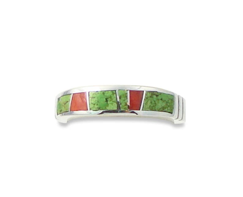 Traditional Inlay Ring Oyster Inlay Women/'s Ring Navajo Silver Spiny Oyster Inlay Ring Navajo Gaspeite Spiny Oyster Inlay Ring Size 6