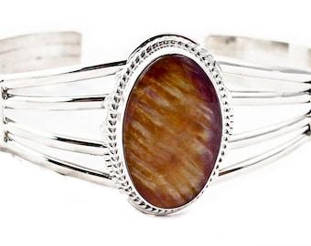 Sterling Silver Spiny Oyster Cuff Bracelet Navajo