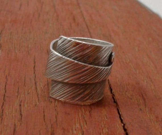 Ring silver Karen Hill tribe Size US=6 UK=L.Adjustable