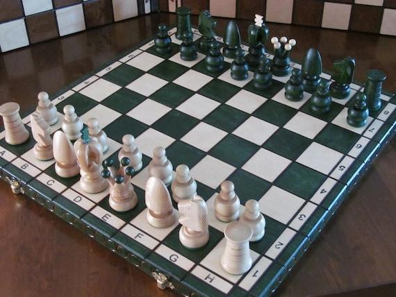 Brand New ♛  Hand Carved Roman Wooden Chess Set 53cm x 53cm♜