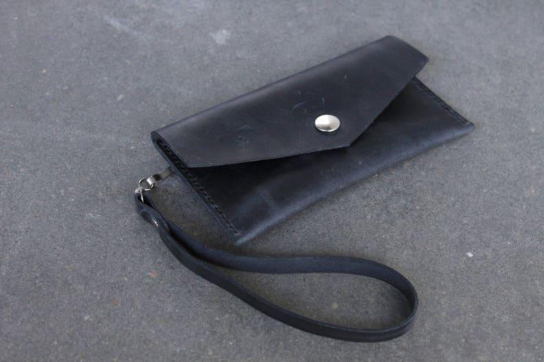 Leather Clutch Wrist Wallet Leather wrist wallet Wrist Bag