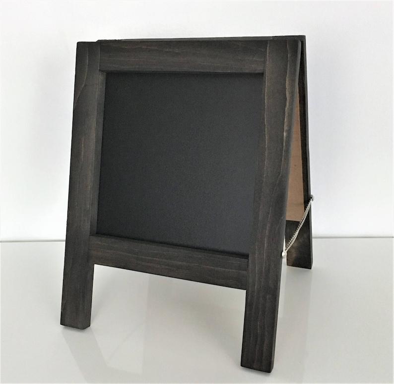 Mini Table Top Chalkboard Sandwich Board | A-Frame | Double-Sided | Custom  Stain Options | 12