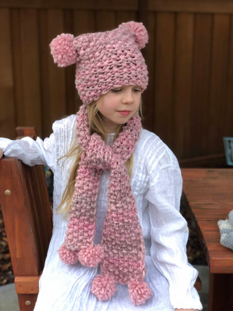 56e2616884f Knitting PATTERN Betsy Scarf and Set Set for Youth Sizes 8-12