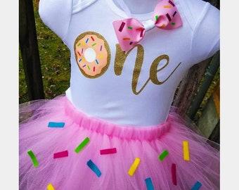 Donut tutu Set- Sprinkles-Pink